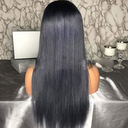 ELLA LONG SILKY STRAIGHT DARK GREY LACE FRONT/ FULL LACE WIG - Eternal Wigs