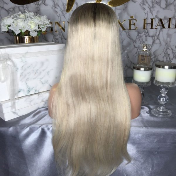 HAILEY WHITE BLONDE HUMAN HAIR WIG - Eternal Wigs