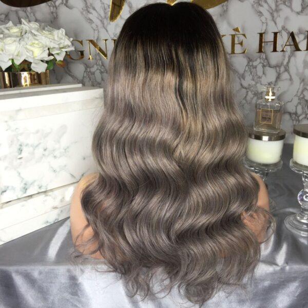 CRYSTAL GREY HUMAN HAIR WIG - Eternal Wigs