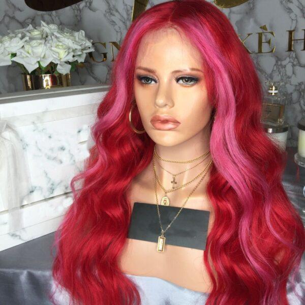 GINA HOT PINK HUMAN HAIR WIG - Eternal Wigs