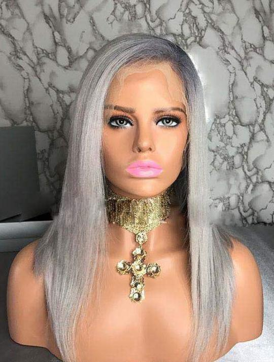 DAISY COLD SILKY STRAIGHT HUMAN HAIR VIRGIN FULL LACE WIG - Eternal Wigs